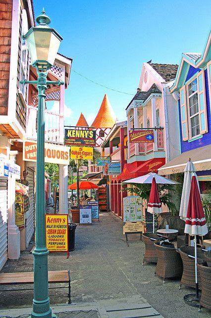 Philipsburg Old Street, St. Maarten, Carribean