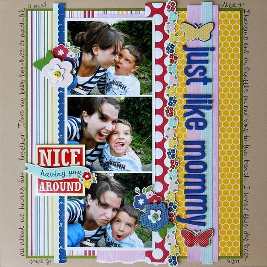 Just Like Mommy - Scrapbook.com - Sweet layout. #scrapbooking #layout #americancrafts