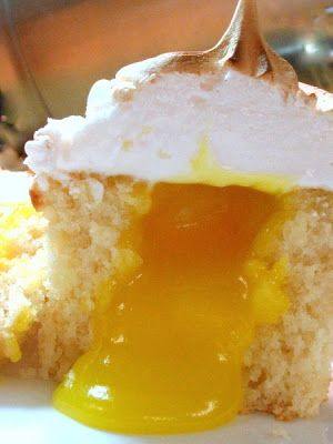 Lemon Meringue Cupcakes - Sweet and sunny, with all the things we love about lemon meringue pie — but in cupcake form