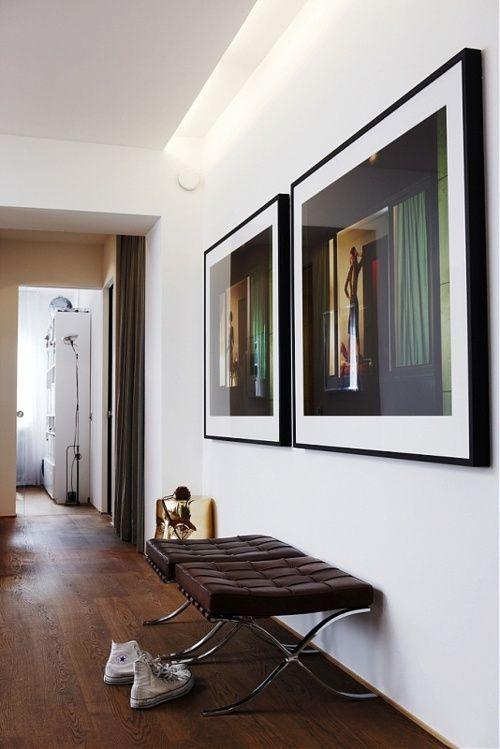 wood floor with minimalistic interior design