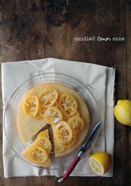 candied lemon cake...if you have not noticed already I love lemon desserts ( I am thinking candied Meyer Lemons.
