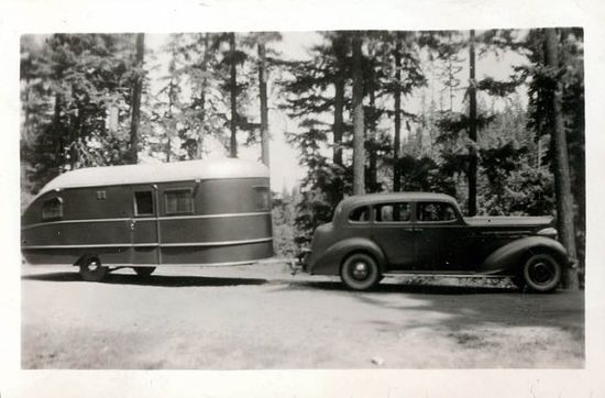 1940s Car and Travel Trailer
