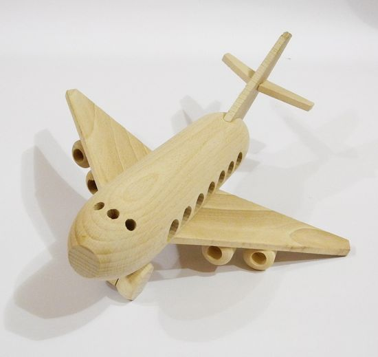 Airplane, organic,handcrafted wooden toys, eco-friendly handmade toys for children, babies, kids, boys and girls. $22.99, via Etsy.