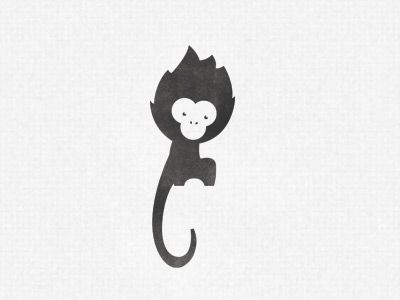Monkey logo by Vic Bell
