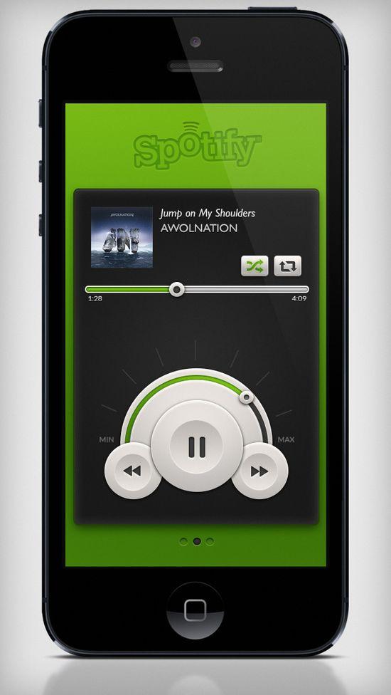 Spotify Player UI by Theresa Garritano