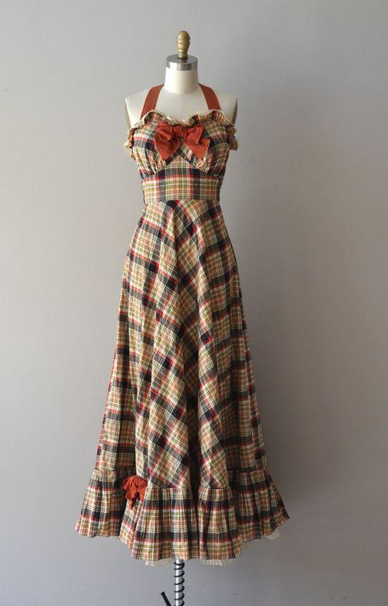 vintage 30s dress / plaid 1930s dress / Bee's Knees by DearGolden, $325.00