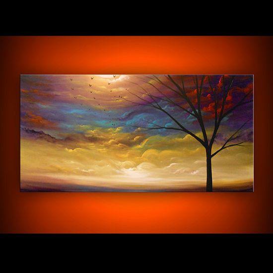 art painting abstract landscape original art painting by mattsart