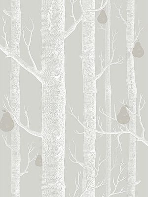 Cole & Son Wallpaper Woods & Pears Grey/WHT/SLVR $118.99 per 11 yard roll #interiors #decor #woodswallpaper