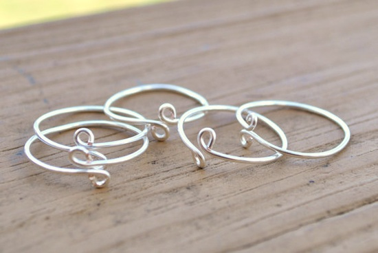 Wire Wrapped Simple Stacking Rings