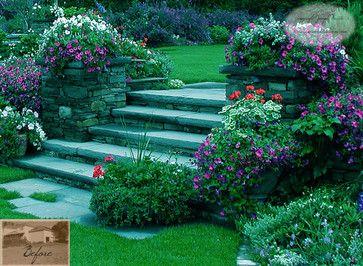 Garden Steps & Plantings - traditional - landscape - newark - Summerset Gardens/Joe Weuste
