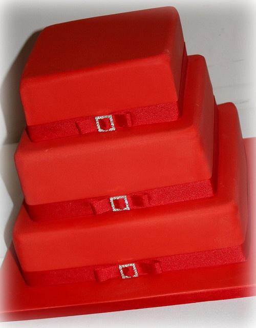 Red Wedding Cake by ConsumedbyCake, via Flickr
