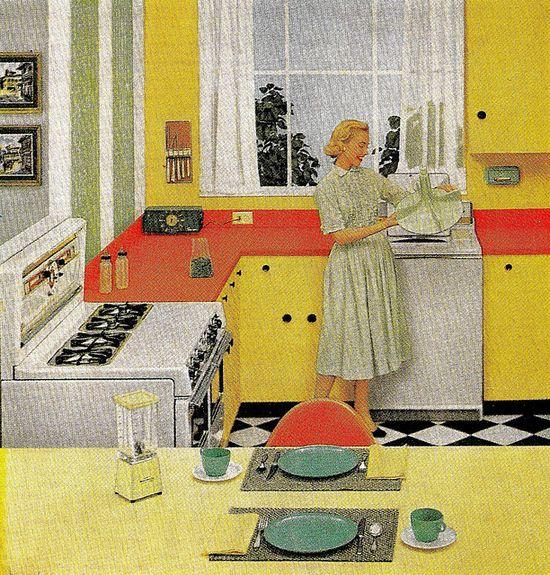 """This Lovely Agitator Matches My Dress!""  ""Modern Plastics Magazine""  1956"