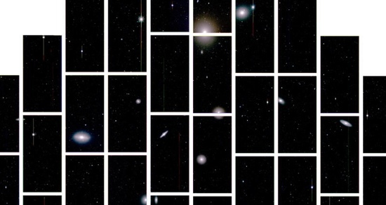 Eight billion years ago, rays of light from distant galaxies began their long journey to Earth. That ancient starlight has now found its way to a mountaintop in Chile, where the newly-constructed Dark Energy Camera, the most powerful sky-mapping machine ever created, has captured and recorded it for the first time.