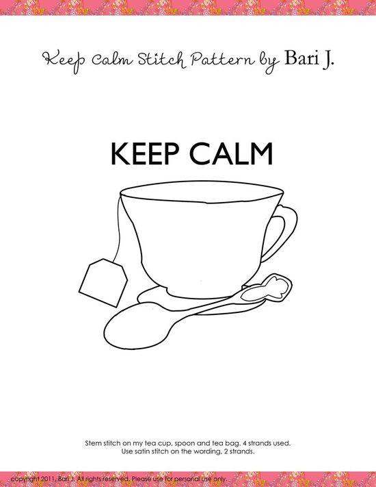 tea cup--keep calm