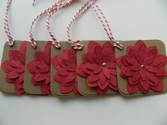 Gift Tags Paper Flower Gift Tags Christmas Gift Tags
