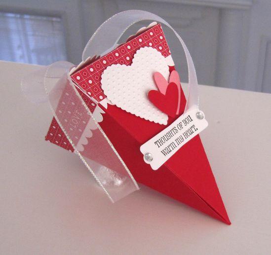valentines day petal cone