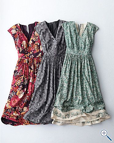 beautiful dresses. love the fabric patterns. #Dress #Clothes
