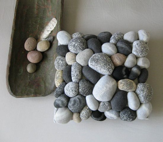 Faux rock pillow. Now this is fun. By miasole, $100.00