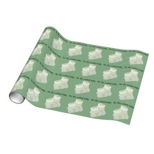 Pistachio baby socks gift wrap.