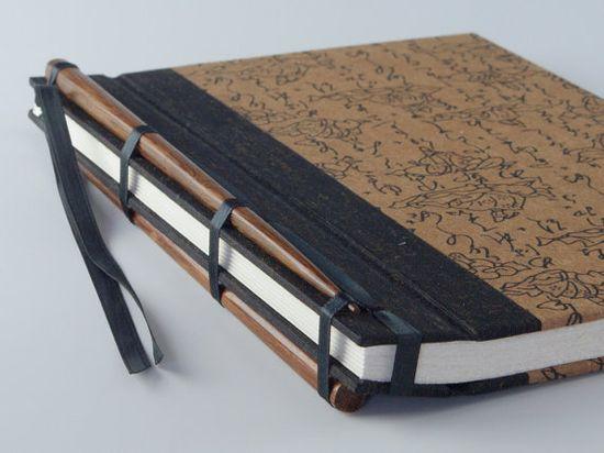 Handmade Journal - Brown Buddha Chopstick Journal