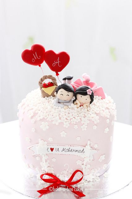 Spring of love anniversary cake by Bake-a-boo Cakes NZ, via Flickr