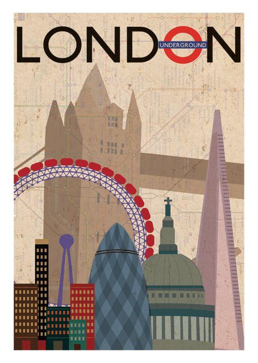 vintage London print