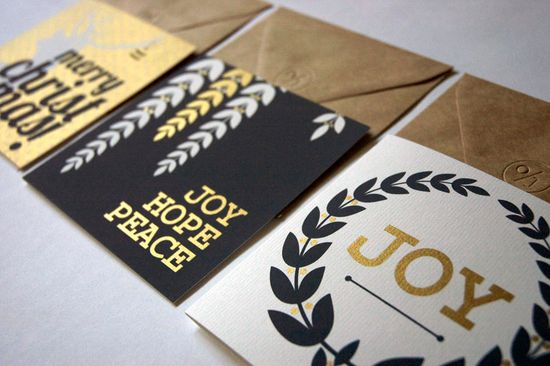 Gold foil holiday cards, $12.50 for 3. #cydconverse