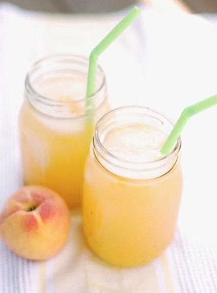 Roasted Peach Lemonade {recipe via The Naptime Chef}