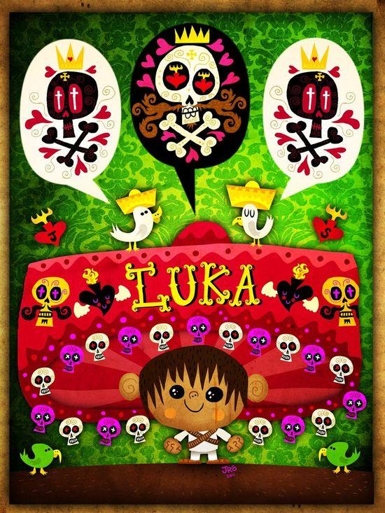 Luka, art poster / art print by character design by Jorge Gutierrez.  Mexopolis. #poster #print #art