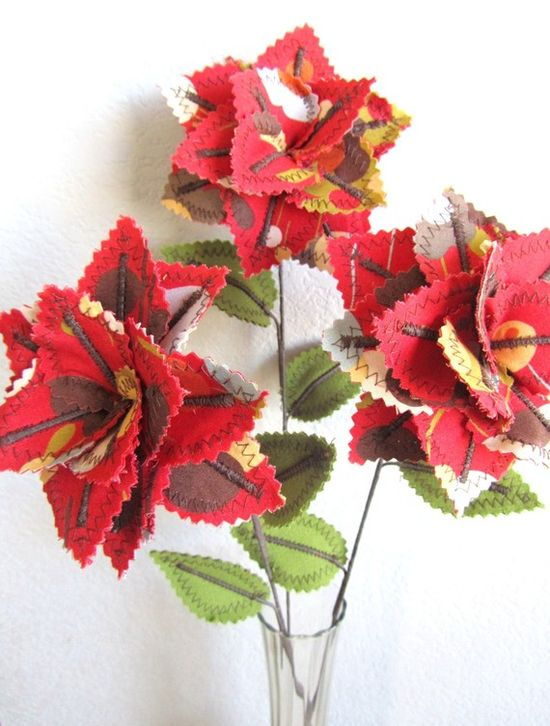 Fabric flowers ~ Etsy