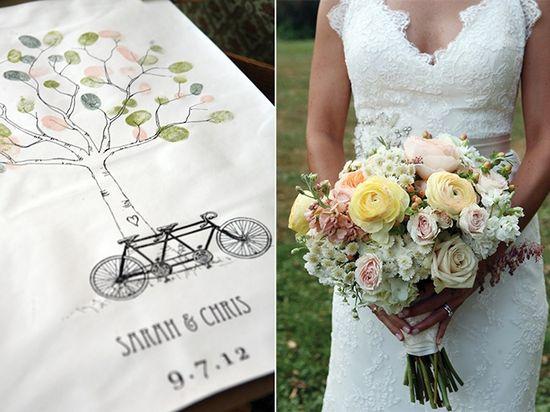 Bride + bouquet
