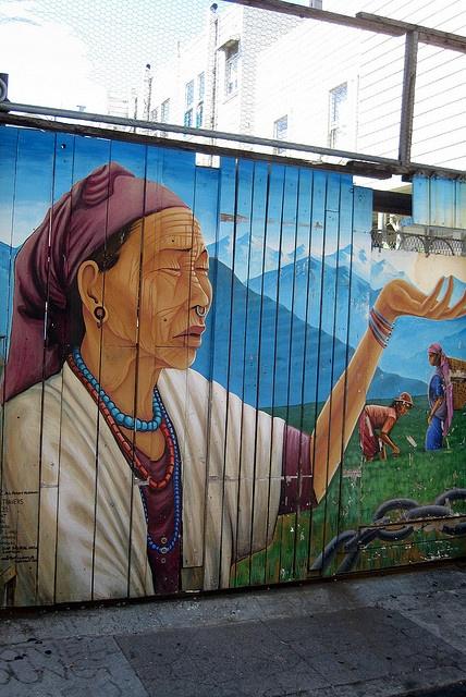 San Francisco - Mission District: Balmy Alley - Naya Bihana street art (A New Dawn) by wallyg, via Flickr