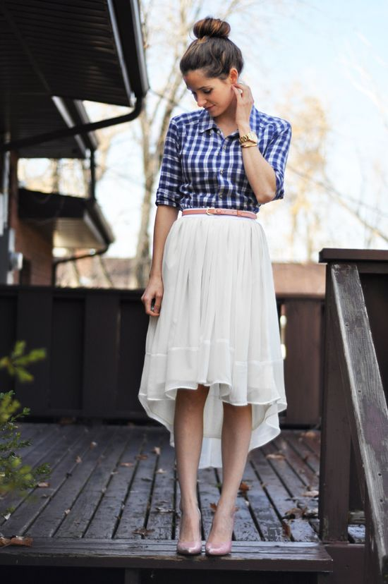DIY Sheer High Low Skirt #DIY #Sew #Sewing #Clothes #Skirts