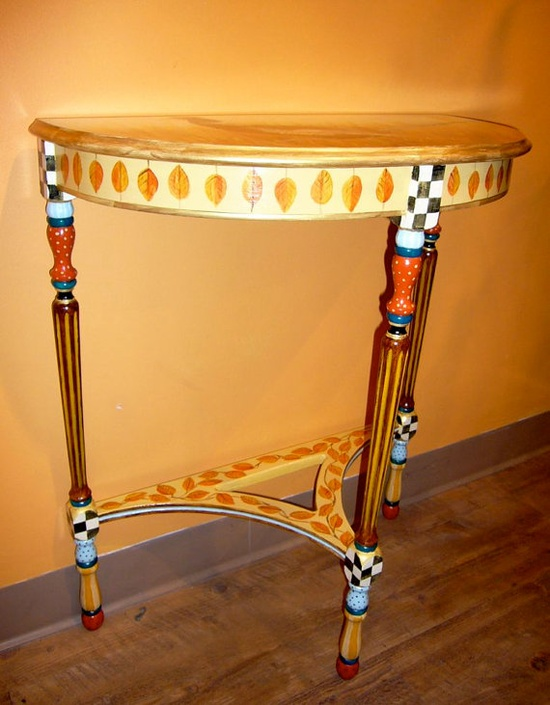 Demi Luna Pheasant Table by mfeganart on Etsy