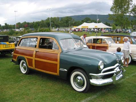 1950 Ford Station Wagon Woody - Reminds me of a car that my parents had, back in the 70's.