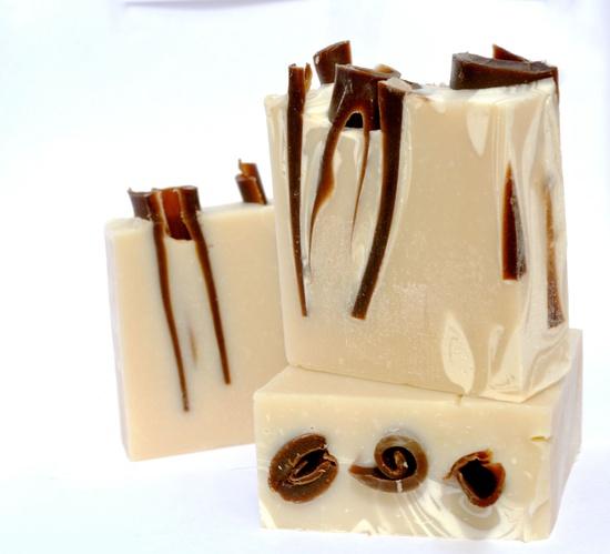 YUM - Almond Natural Soap Chocolate Swirled. $9.50, via Etsy.