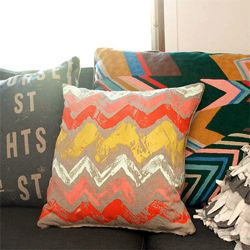 DIY monoprint fabric, fun way to make awesome pillows, onesies, shirts...whatever you want!
