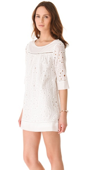 Ella Moss eyelet dress (comes in black or white) - available at the LJBTC Tennis Shop!