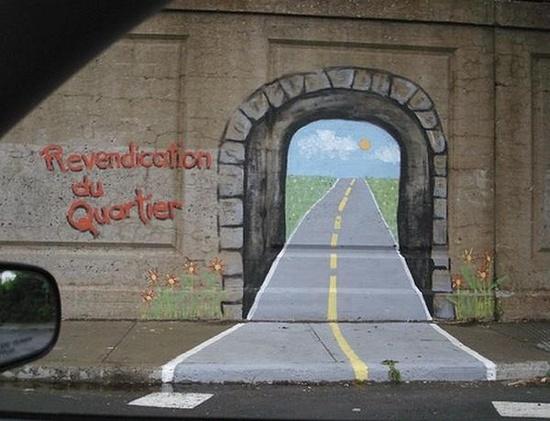 Instead of graffiti