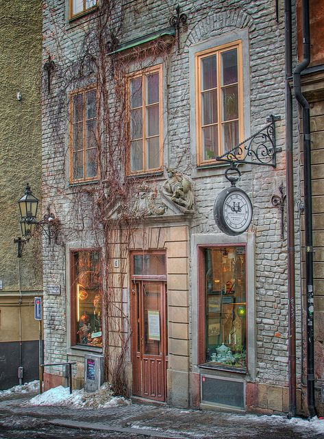 Old town Stockholm, Sweden ...