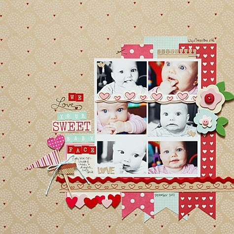 #papercraft #scrapbook #layout    Becky June - very cute !