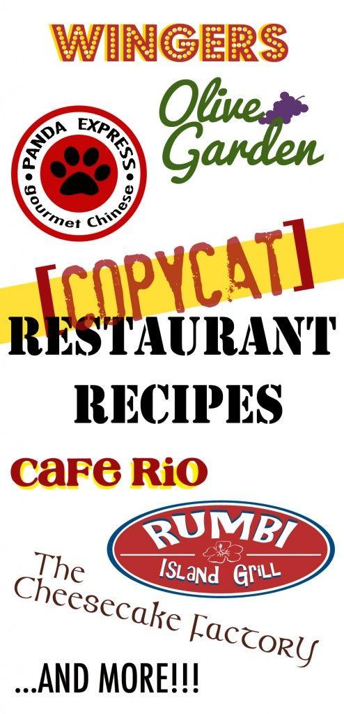 Copycat Restaurant Recipes from favfamilyrecipes.com