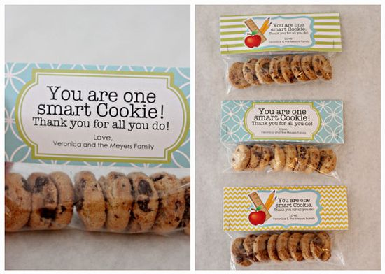 Teacher Gift One Smart Cookie Treat Bag Tags  by theprettypaperie, $7.00