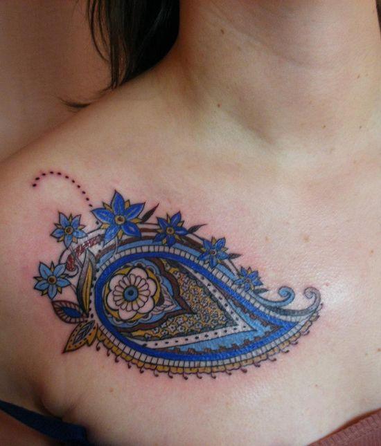 A paisley tattoo design by Amsterdam tattoo artist Barbara Swingaling « « Mayhem & Muse