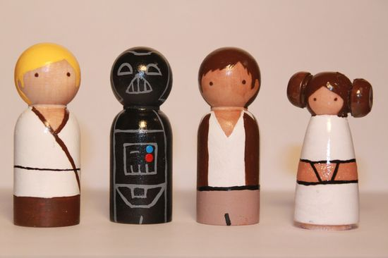 Star Wars Wooden Peg Dolls