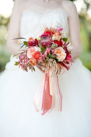 Peach and Red Bouquet