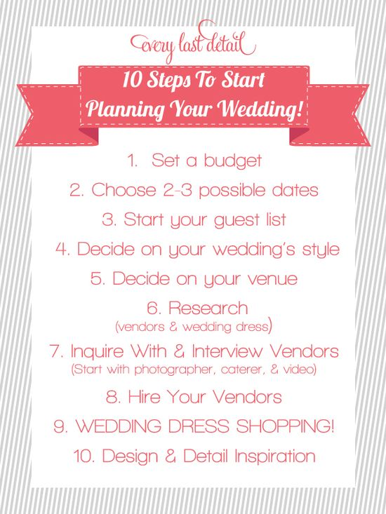 10 Steps to Start Planning Your Wedding