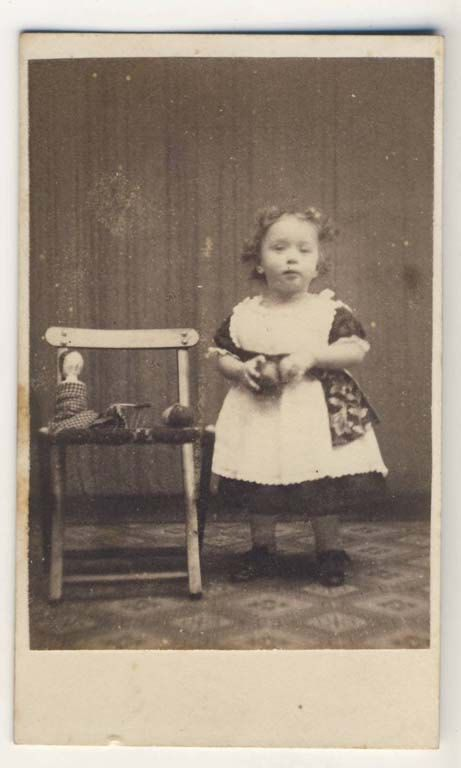 Victorian antique CDV photograph of little girl by picturepast, $8.00
