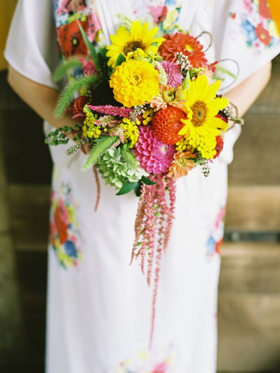 gorgeous dahlia and amaranthus summer bouquet by HollyChappleFlowe... // photo by AmeliaJohnson.net