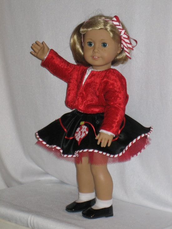 6 pc Christmas outfit for your American Girl by CarmelinaCreations, $37.00